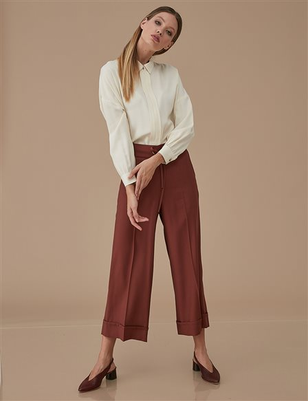 Double Leg Pants A9 19108 Cinnamon