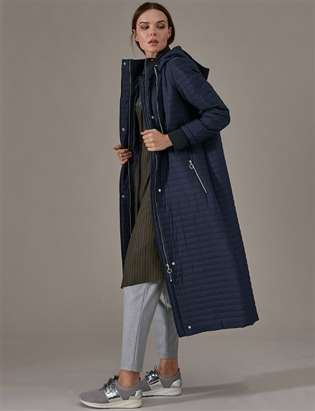 KYR Quilted Coat/Raincoat A9 74002 Navy