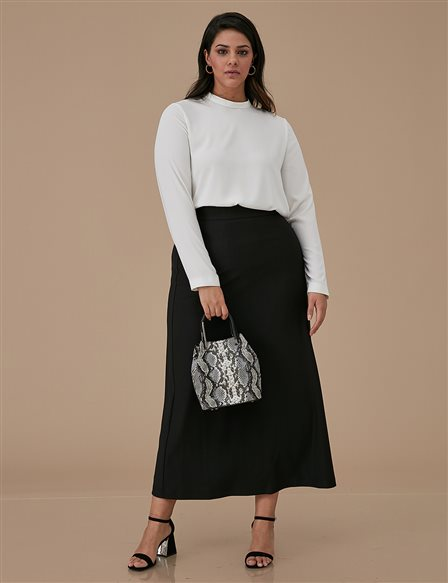 Basic Oversize Skirt A9 12038 Black