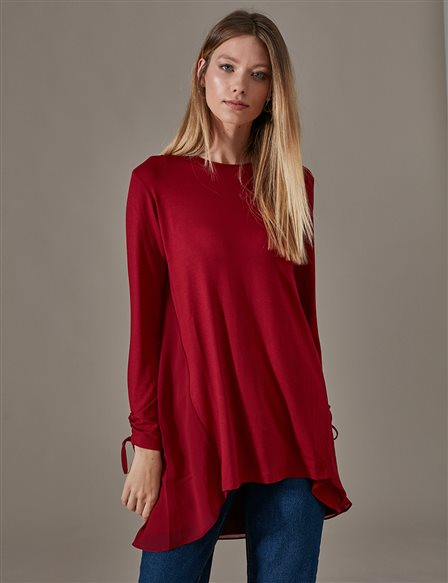 KYR Casual Combed Cotton Tunic A9 70014 Burgundy