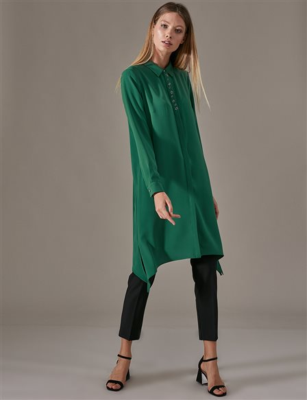 KYR Shirt Tunic Dress A9 81049 Green