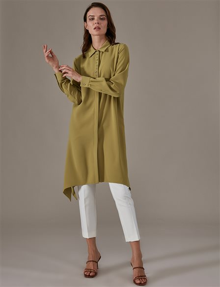 KYR Shirt Tunic Dress A9 81049 Olive