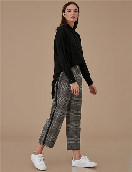 Checkered Pants A9 19090 Black