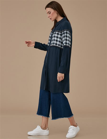 Checkered Tunic A9 21183 Navy
