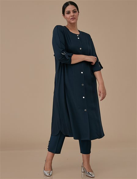 Coat With Gripper A9 25050 Navy