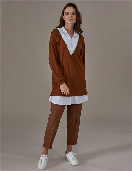 KYR Double Detailed Tunic A9 81036 Camel