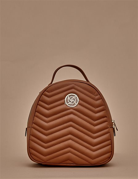 Quilted Backpack A9 CNT01 Camel