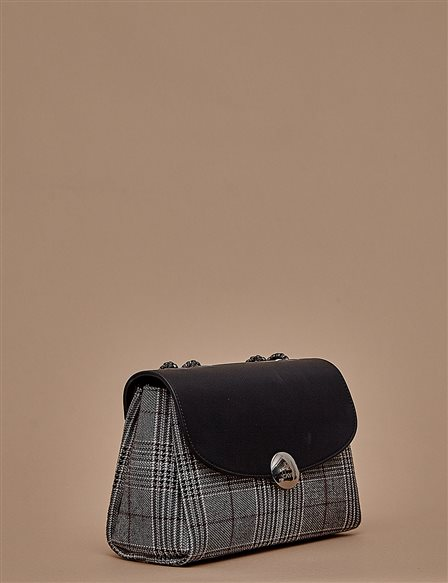Plaid Mini Bag A9 CNT04 Black