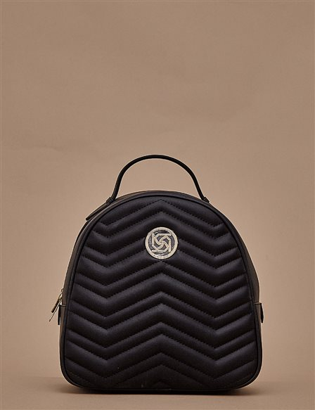 Quilted Backpack A9 CNT01 Black