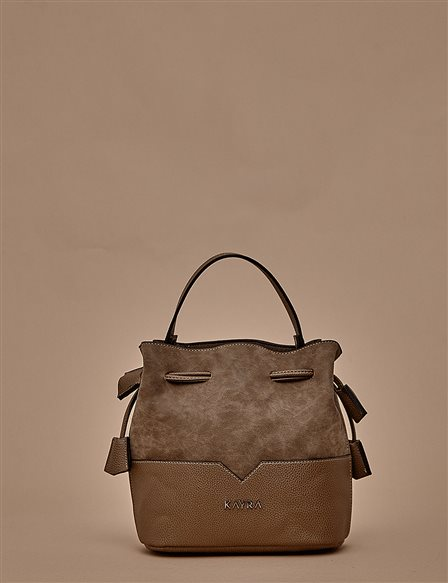 Ruched Bucket Bag A9 CNT24 Stone