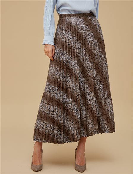 Animal Print Skirt A9 12059 Mink