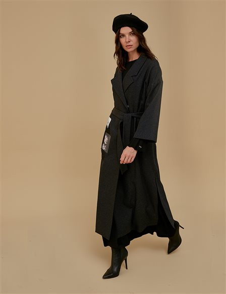 Envelop Coat A9 14026 Smoke