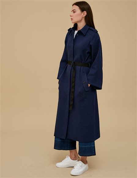 KYR Three Quarter Sleeve Coat İndigo | Navy A9 77004