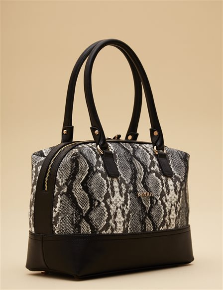 Animal Print Bag A9 CNT13 Black