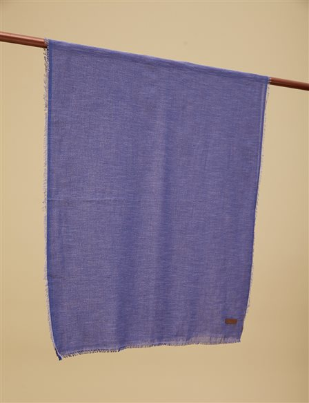Solid Color Shawl A9 SAL31 Indigo