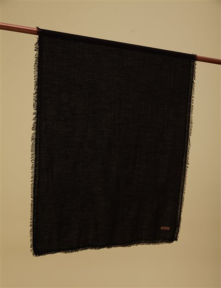 Solid Color Shawl A9 SAL31 Black