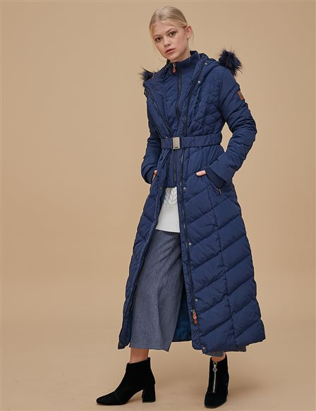 Goose-Quill Coat Navy A8 27004