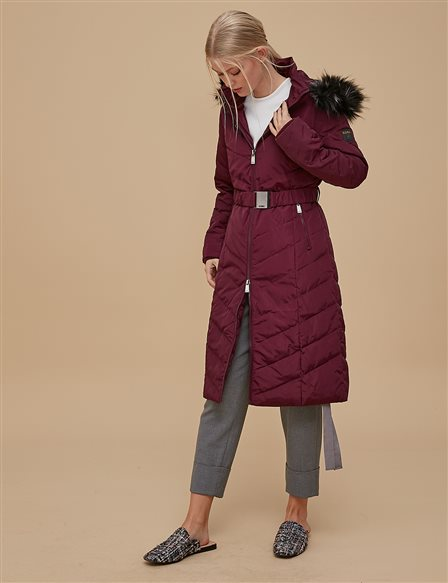 Goose-Quill With Portable Hood Burgundy A8 27005