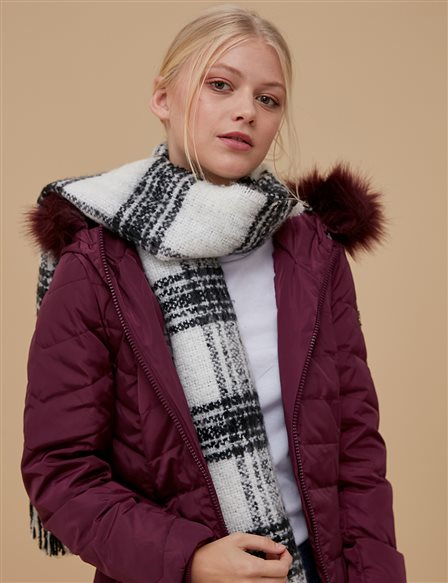 Goose-Quill Coat Burgundy A8 27011