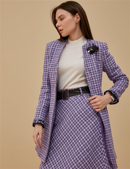 Tweed Jacket A9 13087 Purple