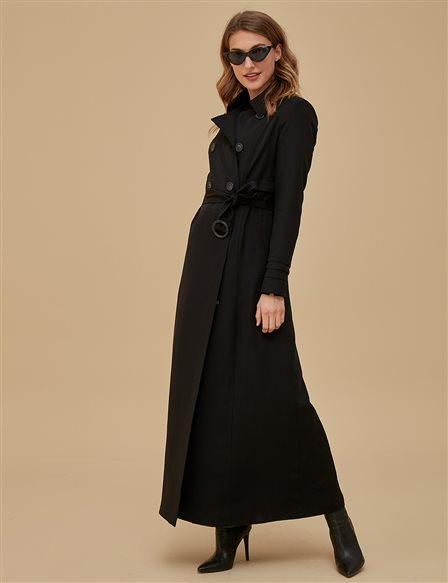 Overcoat With Belt A9 15033 Black