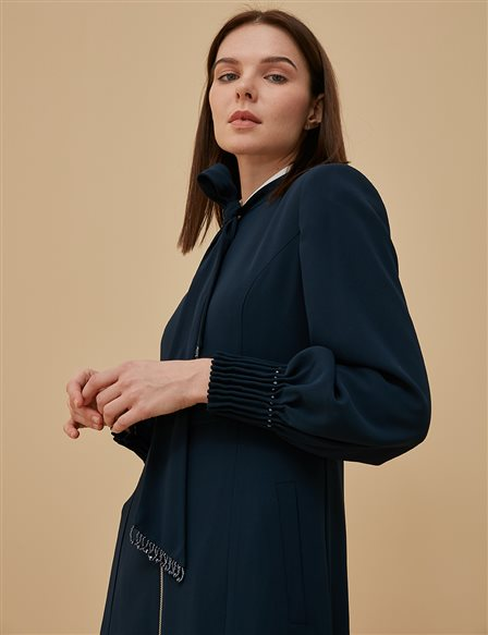Detailed Overcoat A9 15043 Navy