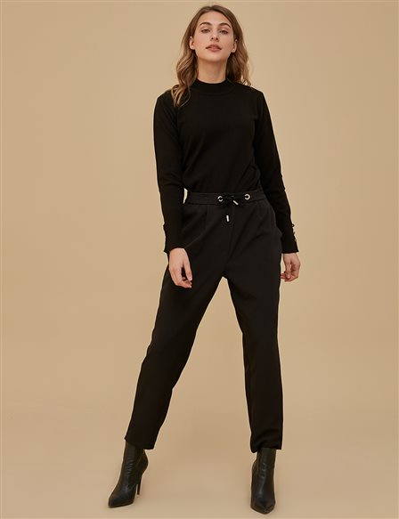 Ruched Pants Black A9 19058A