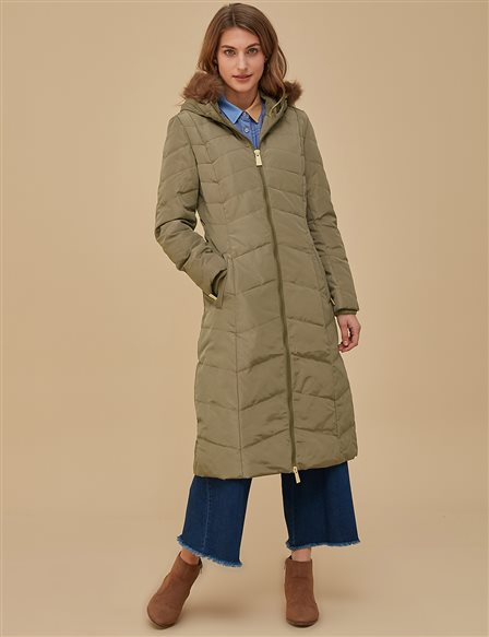 Down Coat Beige A8 27011