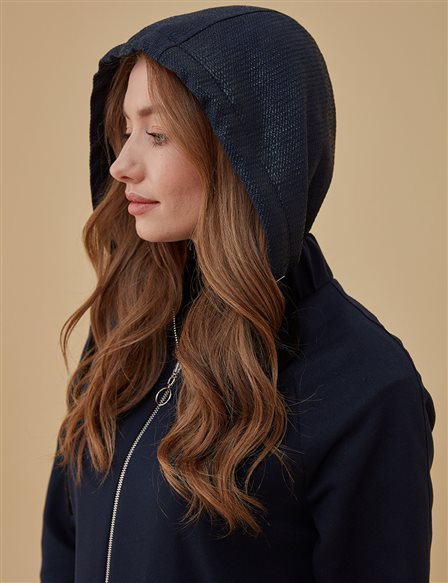 Coat With Hood A9 17084 Navy