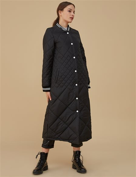 Quilted Coat A9 27027 Black