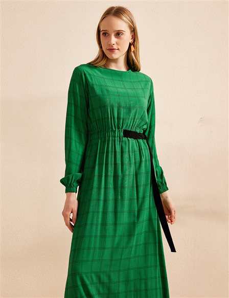 KYR Ruched Dress B20 83003 Green