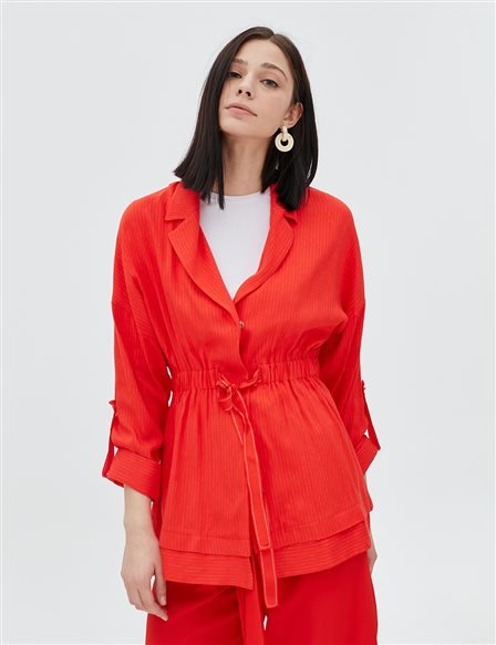 Ruched Jacket B20 13026 Red