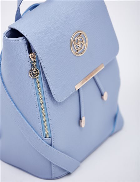 Backpack With Zipper B20 CNT01 Blue