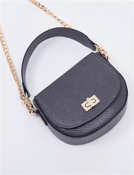 Hand Bag With Metal Detail B20 CNT31 Grey