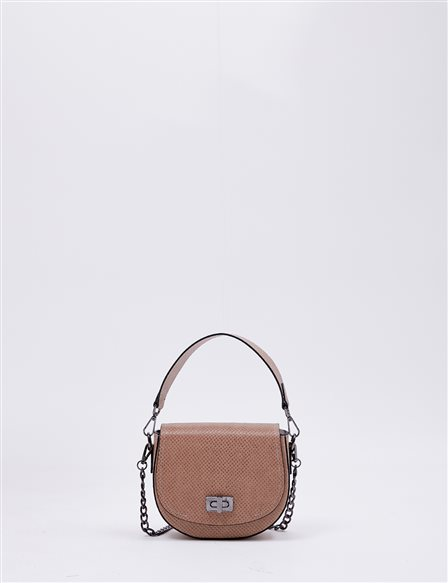 Hand Bag With Metal Detail B20 CNT31 Beige
