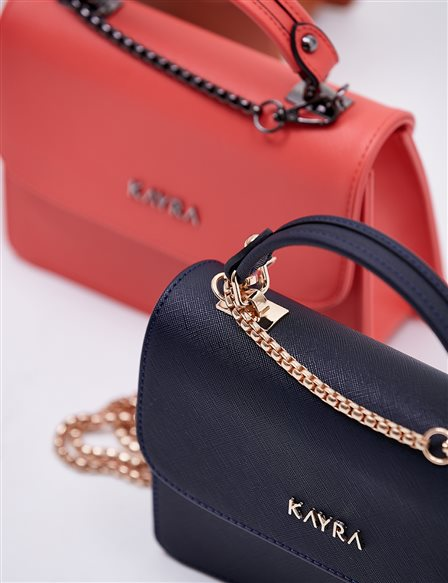 Hand Bag With Chain Strap B20 CNT04 Navy