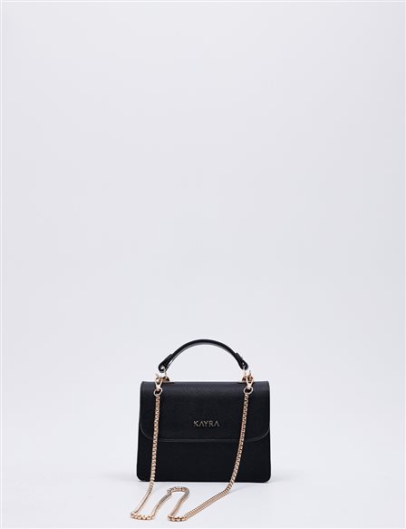 Hand Bag With Chain Strap B20 CNT04 Black