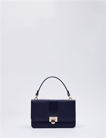 Stripe Detailed Hand Bag B20 CNT19 Navy