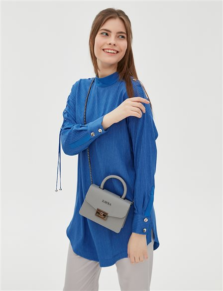 Color Detailed Tunic B20 21071 Blue