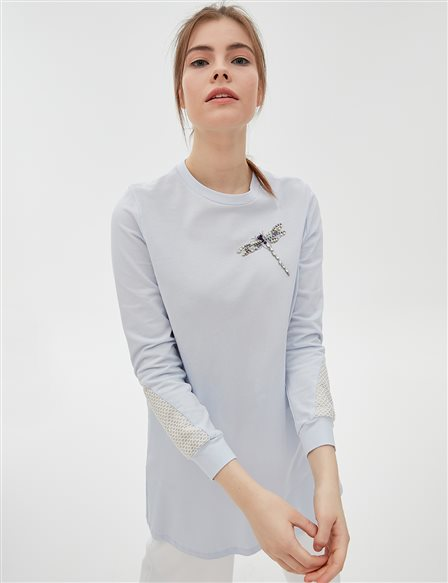 KYR Animal Detailed Sweatshirt B20 81336 Blue