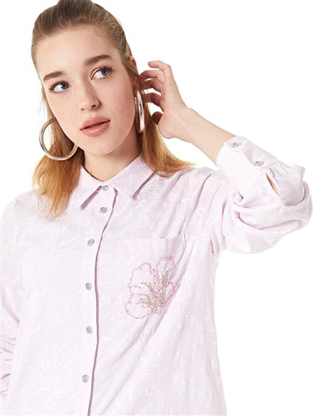 KYR Floral Patterned Tunic Powder B20 81348
