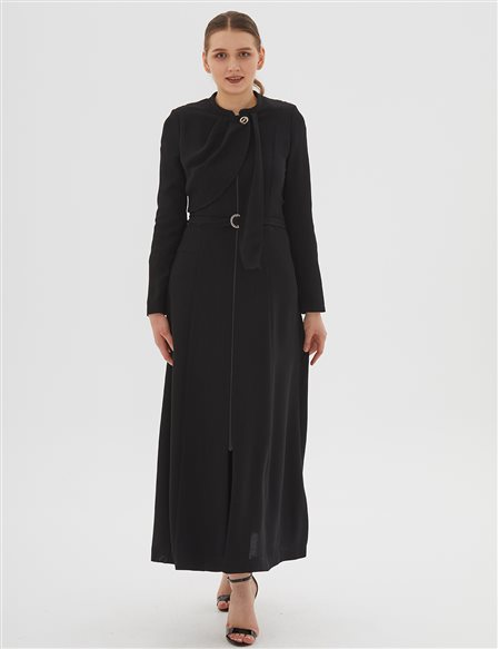 Overcoat With Belt B20 15031 Black