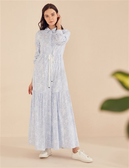 KYR Floral Patterned Dress B20 83014 Blue