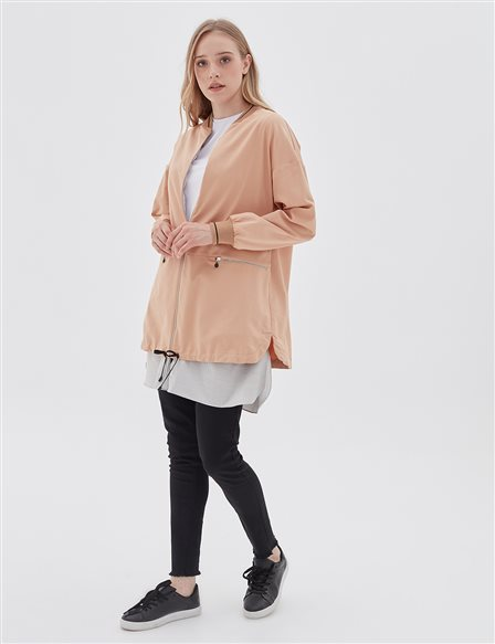 Double Piece Jacket B20 13010 Beige