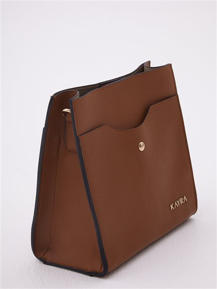 Faux Leather Bag With Two Segment Taba A20 CNT18