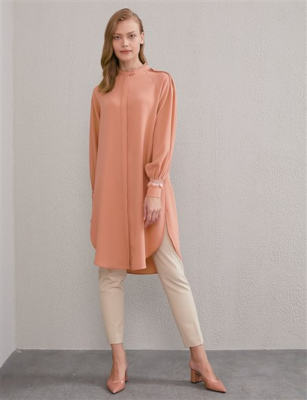 Hidden Ribbed Tunic A20 21192 Light Pink