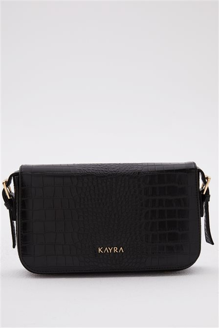 Croco Patterned Cover Bag A20 CNT23 Black