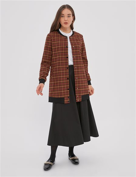 KYR Checkered Pattern Sport Jacket A20 73509 Brown