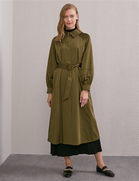 Belted Trench Coat A20 14028 Khaki