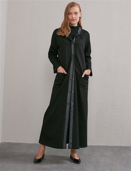Hooded Topcoat A20 15106 Black